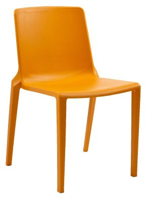 Plaza Indoor And Outdoor Plastic Chair In Orange