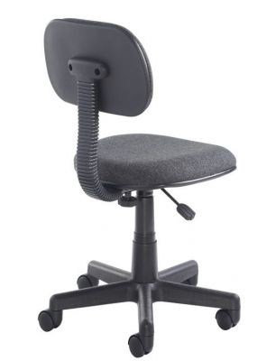 Marina Operators Swivel Chair With Curved Seat Upholstered In Black