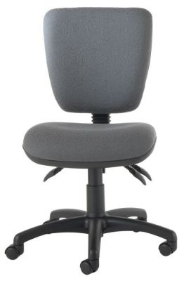 Icon Square Back Medium Task Chair In Grey Fabric And Swivel Base