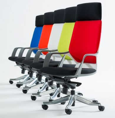 Carbon High Back Designer Chairs Group Shot