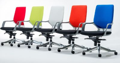 Carbon Mid Back Chairs With Xtreme Fabric Backs