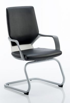 Carbon Vistors Chair In Black Leather