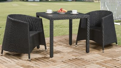 Susie Outdoor Weave Tub Chair Dining Set
