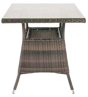 Monique Outdoor Weave Square Table