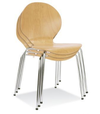 Piazza 6 Chairs Natural Finish