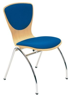 Bingo Chair With Upholstered Seat And Back