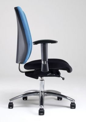 Corsa Task Chair With Blue Back And Black Seat,arm Rest