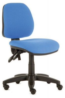 Daisy Blue Medium Back Swivel Chair Without Arms