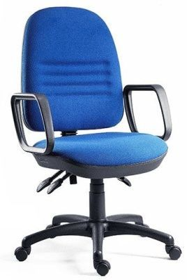 Captain Heavy Duty Operator Chiar With Extra Large Backrest And Wider Seat In Blue Fabric With Loop Arms