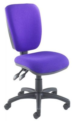Icon High Back Purple Operator Chair Without Armrests