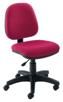Swift Dark Red Medium Back Operator Chair With Black Castors
