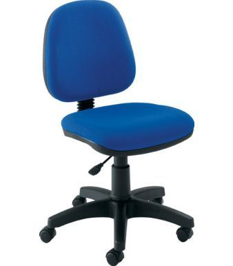Swift Task Chair In Blue Fabric With Adjustable Seat