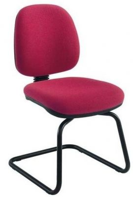 Swift Conference Chair On Cantilever Frame With Red Uhpholstery