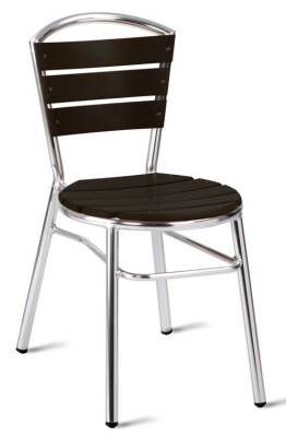 Verona Aluminium Chair Wiith Black Slats
