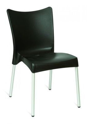 Black Stacking Outdoor Poly Chair