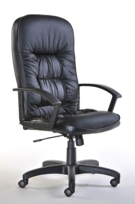 High Back Padded Leather Executive Chair