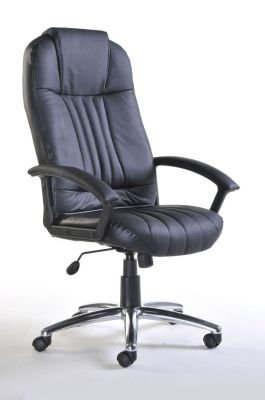 Black Leather High Back Executive Chair Swivel