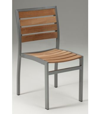 Vesu Aluminiunm And Teak Side Chair