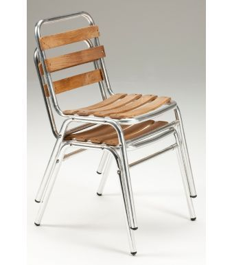 Trieste Teak And Aluminium Side Chair