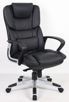 Black Leather Executive Swivel Chair