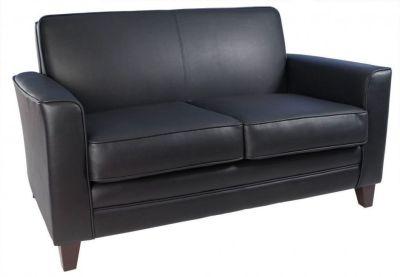 Cardiff Black Leather Sofa