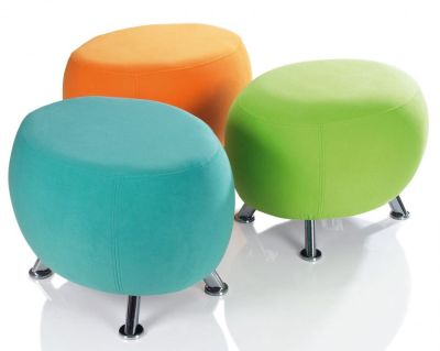 Jambo Fabric Upholstered Stools Reception