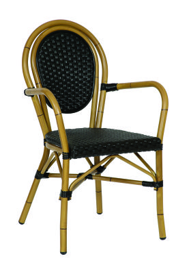 Limoges Continental Armchair With A Black Weave