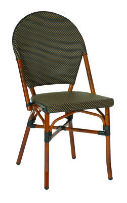 Toulouse Outdoor Continental Side Chair Coffee Weave