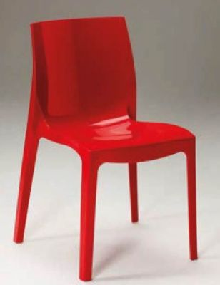 Red Gloss Plastic Chair
