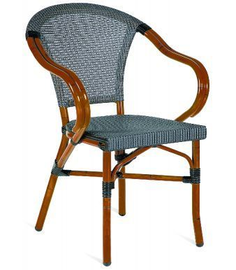 Naples Contienetal Outdoor Armchair Witha Grey Batyline Weave
