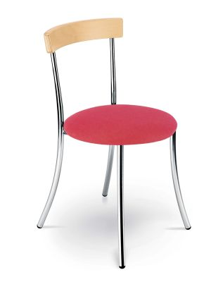 Anca Bistro Chair Red Vinyl Seat