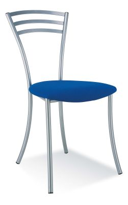 Molino Bistro Chair With A Blue Vinyl Seat