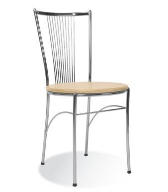 Fosca Chair With A Wood Finish Seat