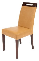 Rumwell Leather Dining Chair Taupe