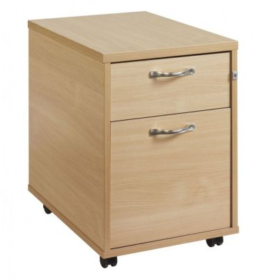 Momento Two Drawer Wooden Mobile Pedestal