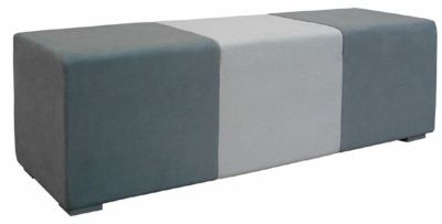 Break Out Seating Cubes In Dark And Light Grey With Silver Feet
