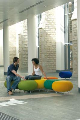 Pebble Modular Stools As An Informal Meeting Area