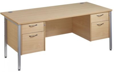 GM Two Drawer Double Pedestal Desk