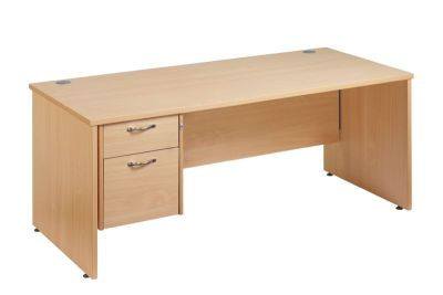 Gm Rectangular Desk With 2 Drawer Suspended Pedestal