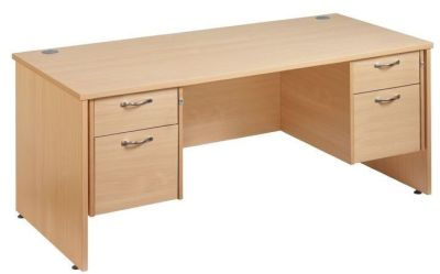 Gm Rectangular Desk With Two Sets Of Pedestal Drawers