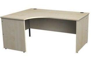 Gm Left Hand Corner Desk In Maple