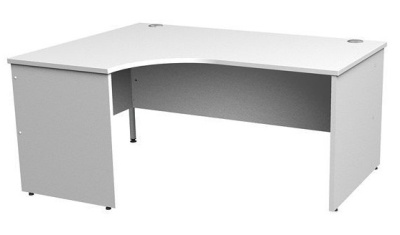 Gm Left Hand Corner Panel Desk In White