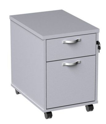 Duplex White Two Drawer Mobile Pedestal