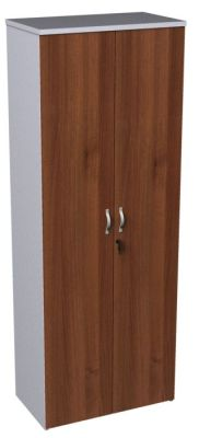 Duplex Walnut And White Tall Cupboard