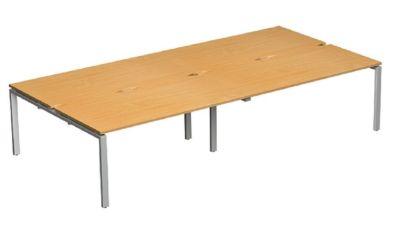 Exact Four Person Bench Desk