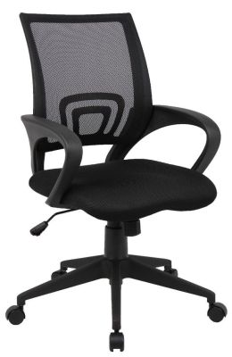 Lincoln Black Mesh Back, Upholstered Seat Computer Chair