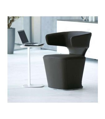 Bison Contemporary Black Reception Seating