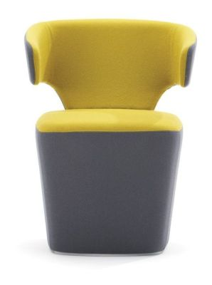 Bison Designer Tub Chair By Simon Pengelly In Yellow And Grey