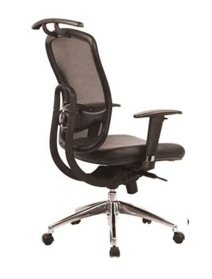 ECT 2 Designer Mesh Chair With Integrated Coat Hanger, Large Back With Soft Feel Mesh And Upholstered Seat