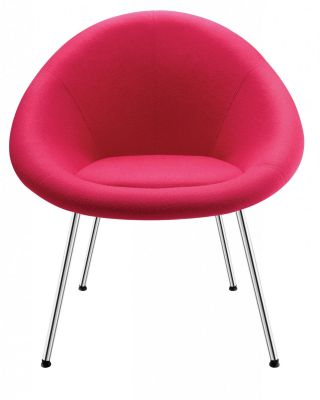 Gloss Bucket Style Designer Reception Chair In Bright Pink Fabric